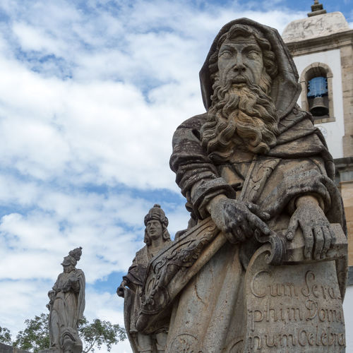 Prophets of Aleijadinho Brazil Travel Traveling Architecture Art And Craft Cloud - Sky Craft Creativity Day Female Likeness Heritage History Human Representation Low Angle View Memorial Nature No People Ornate Representation Sculpture Sky Statue Stone Material The Past Travel Destinations