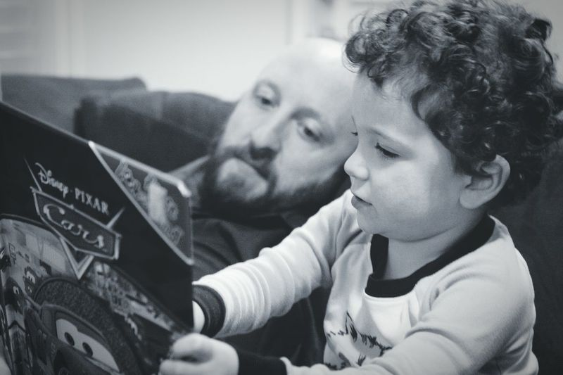 Day 9 - Reading time with little man. I had such a good time with my son after such a rough day. Exactly what i needed and made me happy. As much as i test my son's strength, it's just as important to keep his mind strong.he's a smart boy already Father & Son 365 Days Project 365