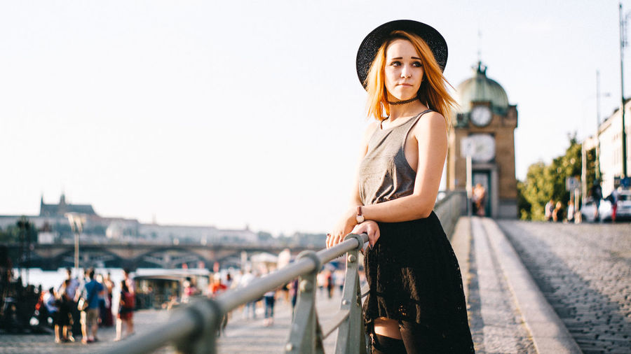 Just street Beautiful City Girl Hut Redhead Street Photography Summer Sunset VSCO Wide Angle Eyeemphoto