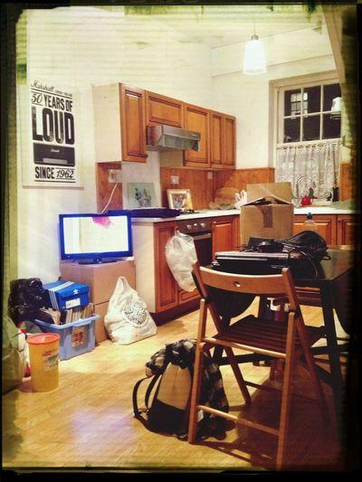 Moving House Boxes Happy Enjoying Life Taking Photos
