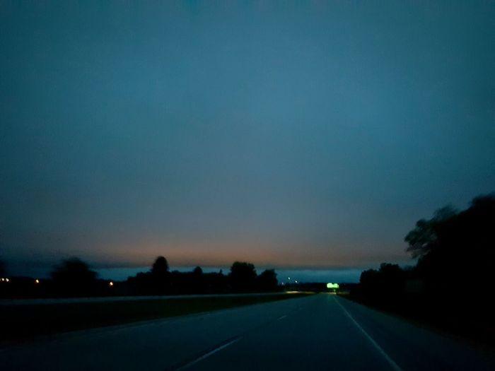 Austin, MN, road, sunrise,