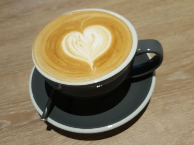Coffee - Drink Cappuccino Food And Drink Table Milk Froth Art Cafe Time Cups On Table Woodentable Art Is Everywhere