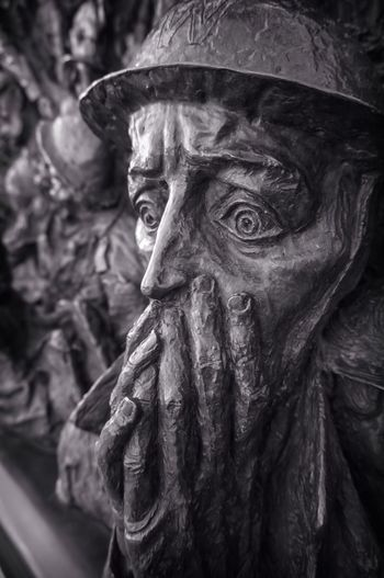 Close-up of scared statue