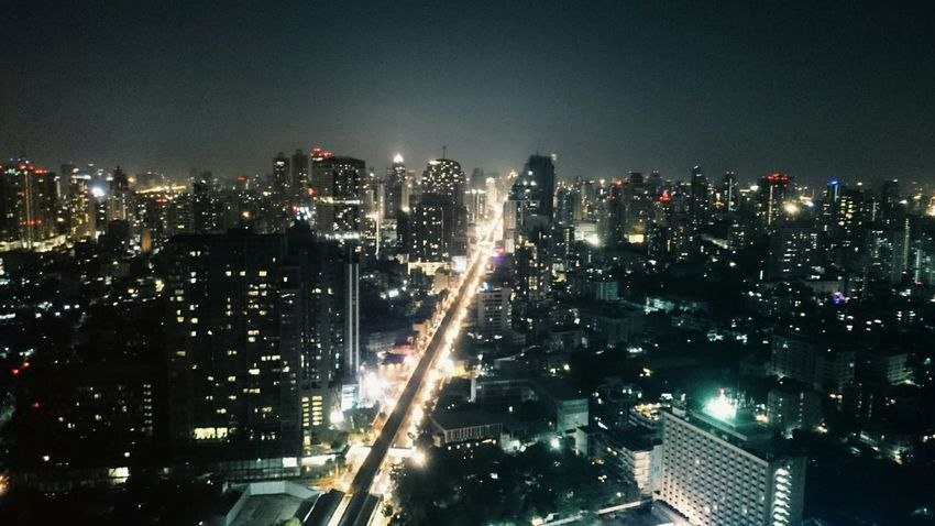 Bangkok by night ? Bangkok Cityscape City Lights Panorama