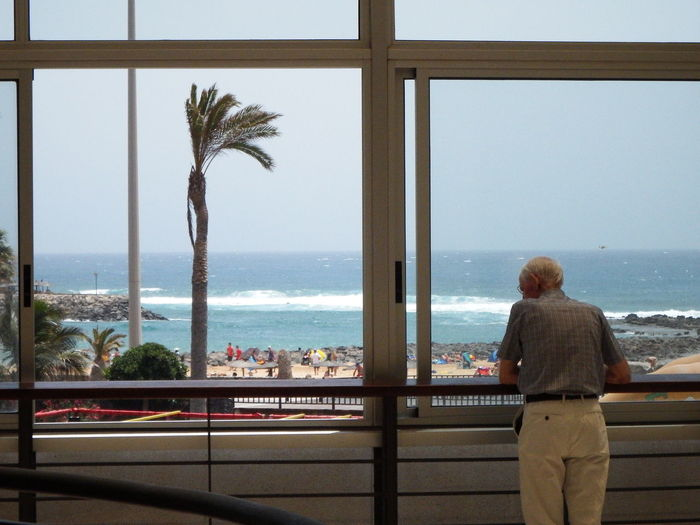 Gazing out across the tides of life, wishing for another breathe of sea air. Fuerteventura Life Man Travel Like Ocean Old People Photographer Photography Travel Destinations Water World