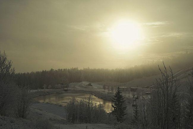 Holmenkollen Norway Oslo Octified Sunset