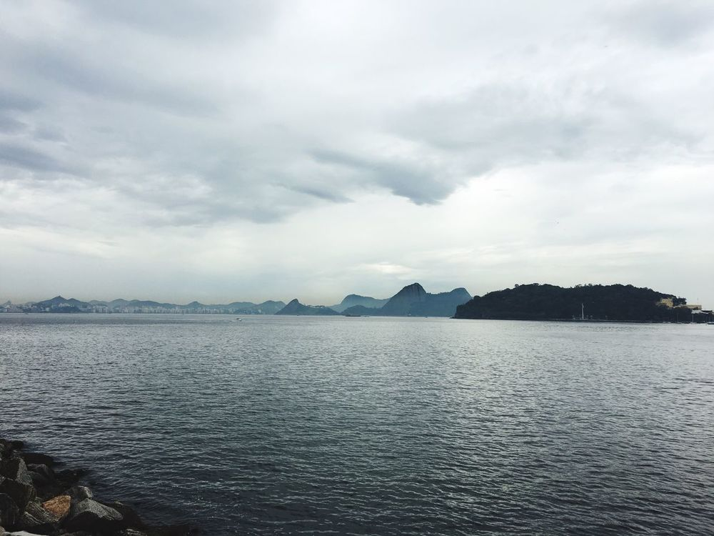 Guanabara Bay at a Cloudy Day Nature Beauty In Nature Water Guanabara Bay Cloudy Day