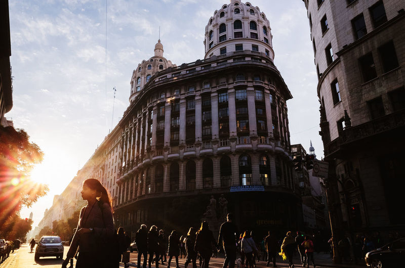Sunset in the city Building Exterior Built Structure Architecture Real People City Sky Group Of People Lifestyles City Life Women Leisure Activity Building Sunset Sunset Silhouettes City Life Street Street Photography Streetphotography Fotografía Callejera City Street cityscapes Buenos Aires Buenosaires Argentina Bogotá International Women's Day 2019