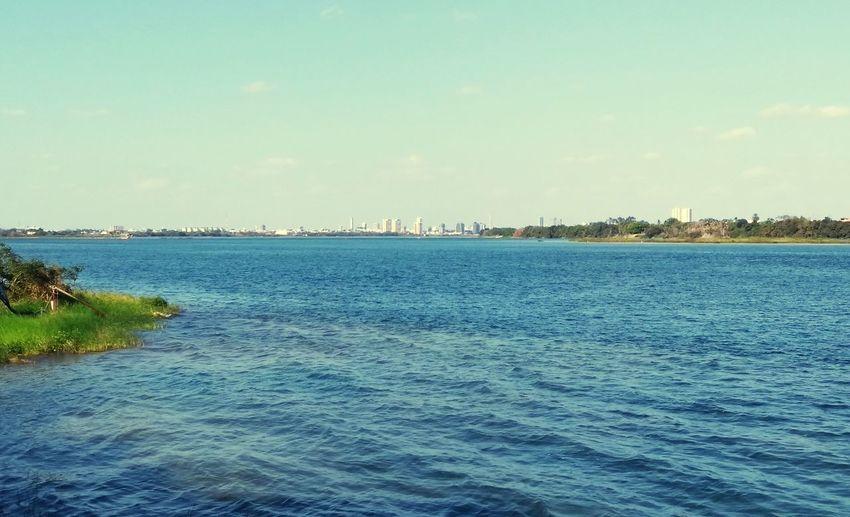 Rio São Francisco - Petrolina Pernambuco Brasil Petrolina River Water Blue Sky Horizon Over Water Calm