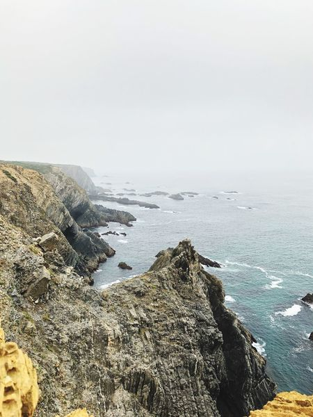The beginning of Portugal Portugal Fog Sea Water Sky Beach Scenics - Nature Beauty In Nature Nature Land Tranquility