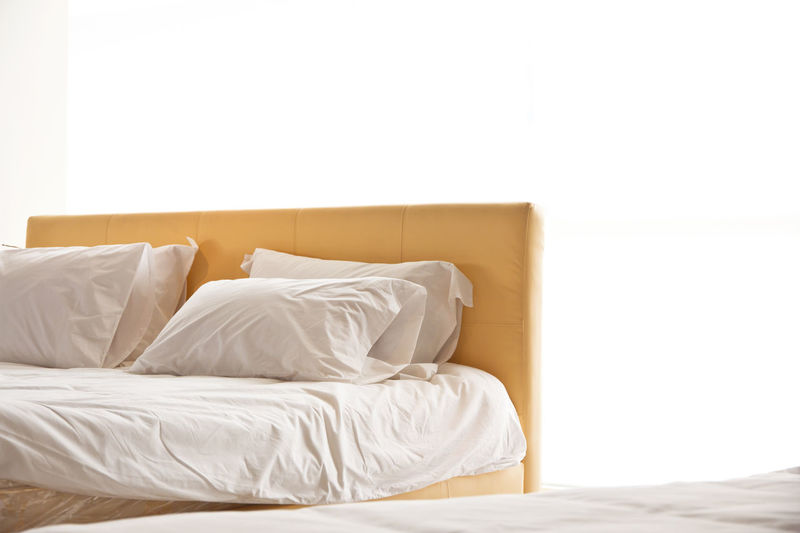 Close-up of bed