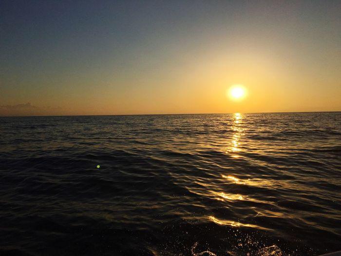 Seawave Cyprus Sea Sunrise Sun Sunset Sunshine