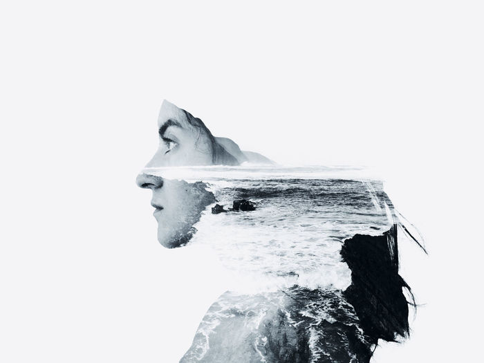Get lost in nature and you will find yourself. Photography Photographer Conceptual Conceptual Photography  Surrealism Surrealist Art Surreal Photoshop Art Artist Landscape Nature Face Woman Woman Portrait Portrait Portrait Photography Portrait Of A Woman Self Portrait Double Exposure Multiple Exposure Sea Seascape Digital Composite