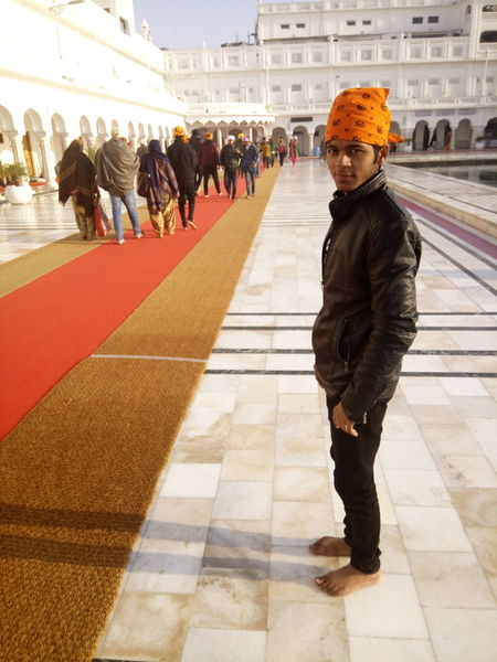 EyeEm Selects Large Group Of People Golden Temple Adults Only Ice Rink Adult People Outdoors Day Crowd Freshness Architecture Winter Cityscape Lifestyles Building Exterior Travel Destinations