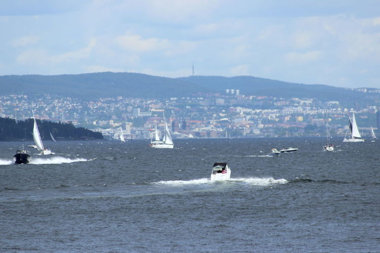Boats Day Motion Nautical Vessel Oslo Oslofjord Outdoors Sea Sea Life Seascape Seaside Sky View