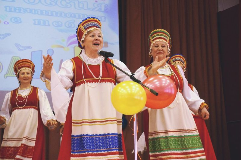 Russian Traditional Costume Russian Grandmas Old Singer  Women Colors