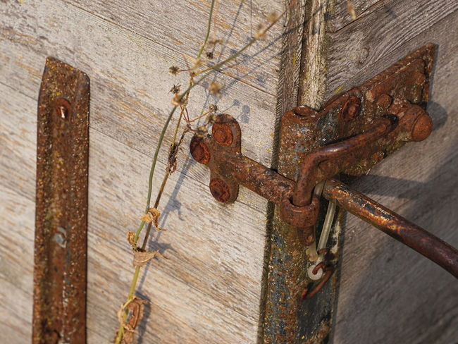 Locked Architecture Close-up Day Decline Deterioration Door Entrance Germany Latch Lock Metal No People Old Outdoor Photography Outdoors Outdoors Photograpghy  Protection Rusty Rusty Metal Safety Security Wall - Building Feature Weathered Wood - Material