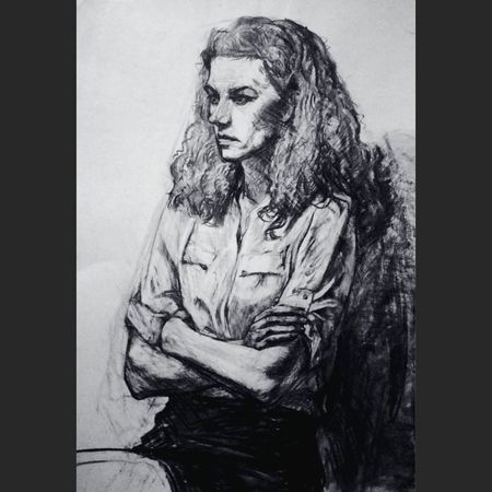 Drawing Graphic Art, Drawing, Creativity рисунок уголь ArtWork Women Illustration ArtInMyLife
