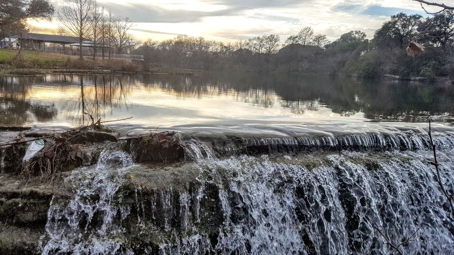 Sunset at Veteran's Park Texas Hill Country River Texas Sky Stream - Flowing Water Shadows & Lights Solitude Reflection Waterfront Day Winter