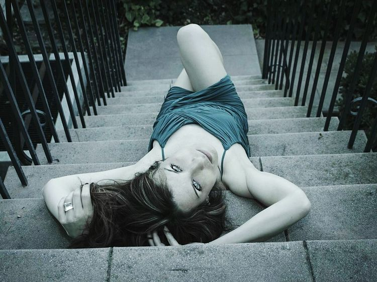 Beauty Stunning Staircase Stairporn BlueEyes Perspective Model ModelPose  Fashion&love&beauty