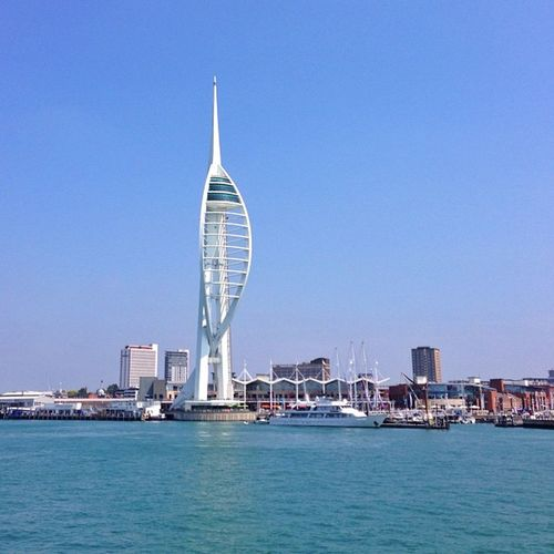 First checkpoint of our trip yesterday, #Portsmouth port with beautiful #Spinnaker Tower (170m structure with three viewing decks) Aauk Yourturnbritain Summer Spinnaker Ic_cities_portsmouth Ferry Port Portsmouth Gang_family Allshots_ Ic_cities Gf_uk O2travel Gi_uk Ig_england