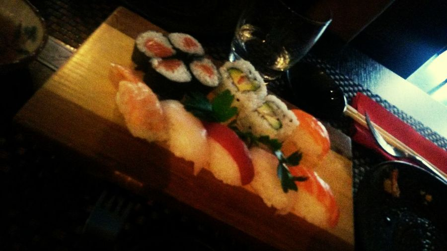 Enjoying A Meal Sushi Time ♥