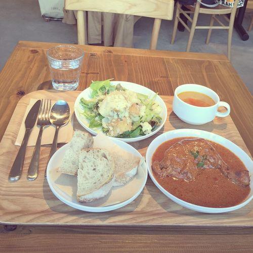 navarre Lunch / Soup Set ●ᴗ● NAVARRE CHICKEN Potato Salad ワインビネガーとマスタードのサラダ Minestrone @Navarre Tokyo