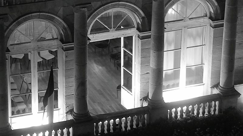 Architecture Arch Built Structure No People Politics And Government Mairie History Night Blackandwhite Black & White Black And White