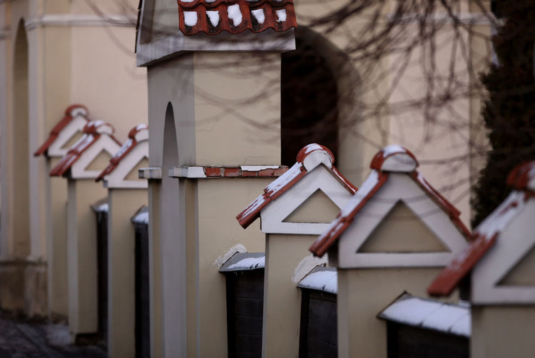 Kedainiai Old Town Lithuania Architecture Building Exterior Built Structure Close-up Communication Day Fence Focus On Foreground Kėdainiai No People Outdoors Tiling