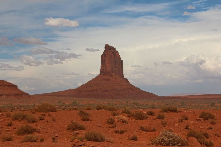 Beautiful monument valley Sky Landscape Cloud - Sky Beauty In Nature Environment Scenics - Nature Non-urban Scene Tranquil Scene Tranquility Desert Rock Physical Geography Land Geology Rock Formation No People Travel Destinations Remote Nature Rock - Object Climate Arid Climate Outdoors Formation Sandstone