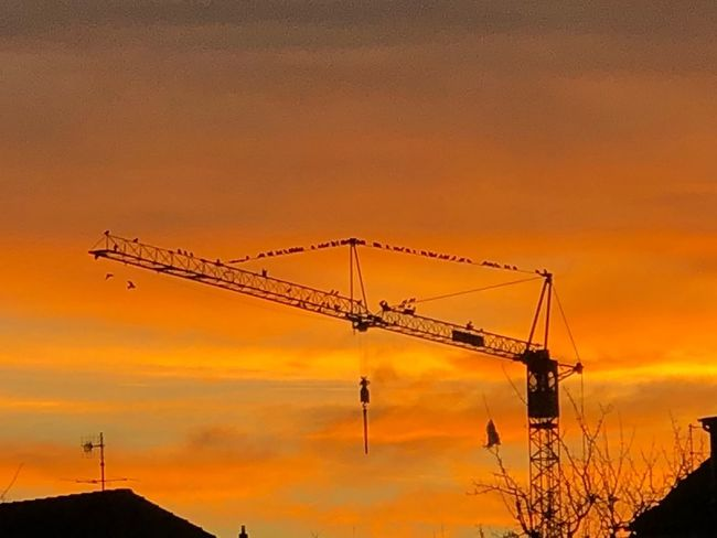 Photography Nature Amazing Awesome Sunset Orange Color Silhouette Sky Crane - Construction Machinery Outdoors Low Angle View Cloud - Sky Beauty In Nature Nature Architecture Day No People