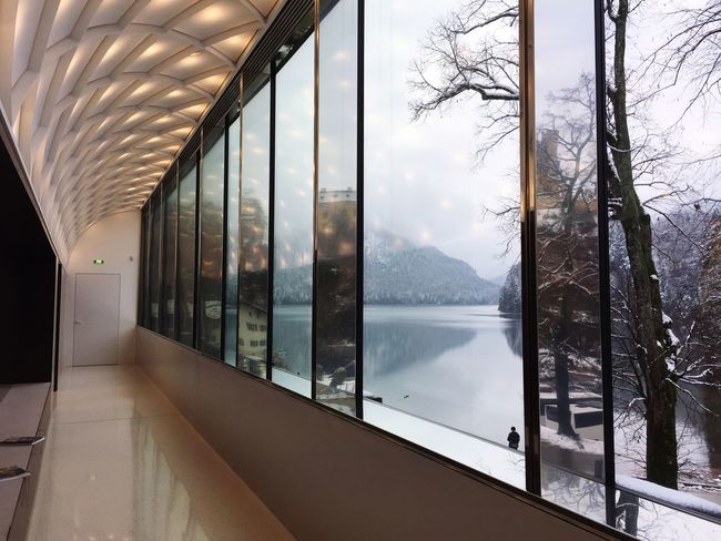 Window Indoors  No People Day Nature Scenics Mountain Architecture Winter Sky Modern Beauty In Nature Water Tree
