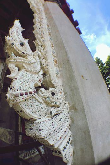 Religion Sculpture Low Angle View Day Spirituality No People Statue Outdoors Close-up Dragon Sky Naga Budism Budist Tempel Ñaka Thailand 🇹🇭 Budist Scrupture Connected By Travel
