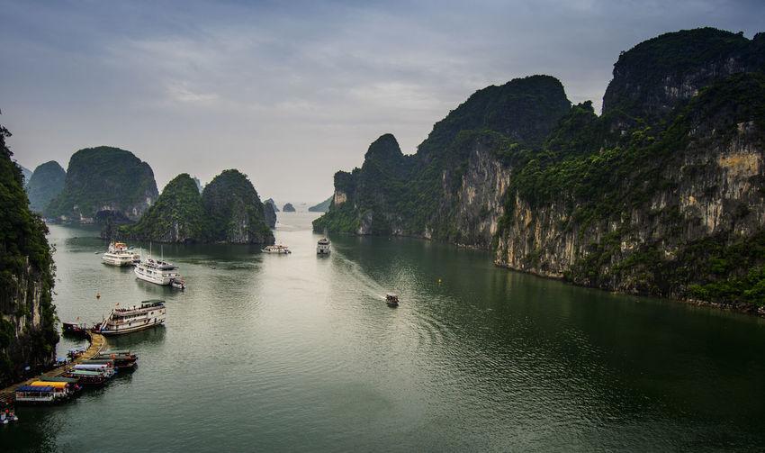 Scenic view of ha long bay