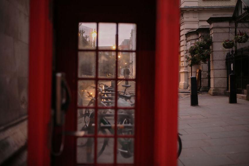 London Call - London Architecture Building Exterior Built Structure Close-up Door Red Telephone Window EyeEmInLondon Postcode Postcards