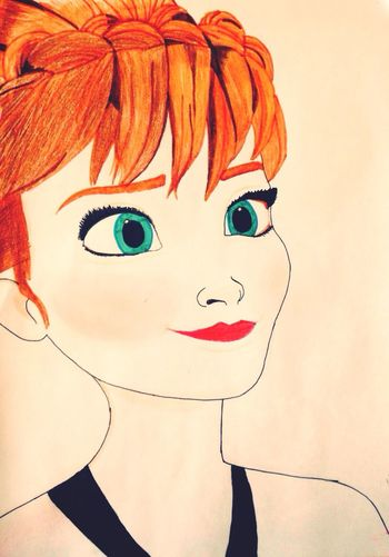 Anna Frozen Movies Drawing