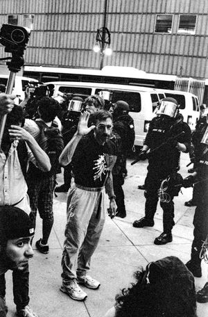 Protests at the 2008 Democratic National Convention (DNC) 2008 Democratic National Convention Black & White Film Protest Adult Adults Only Black And White Black And White Photography Blackandwhite Blackandwhite Photography Building Exterior City Civil Disturbance Crowd Day Film Photography Full Length Large Group Of People Lifestyles Men Outdoors People Protesters Real People Tri-x 400 Pushed Women