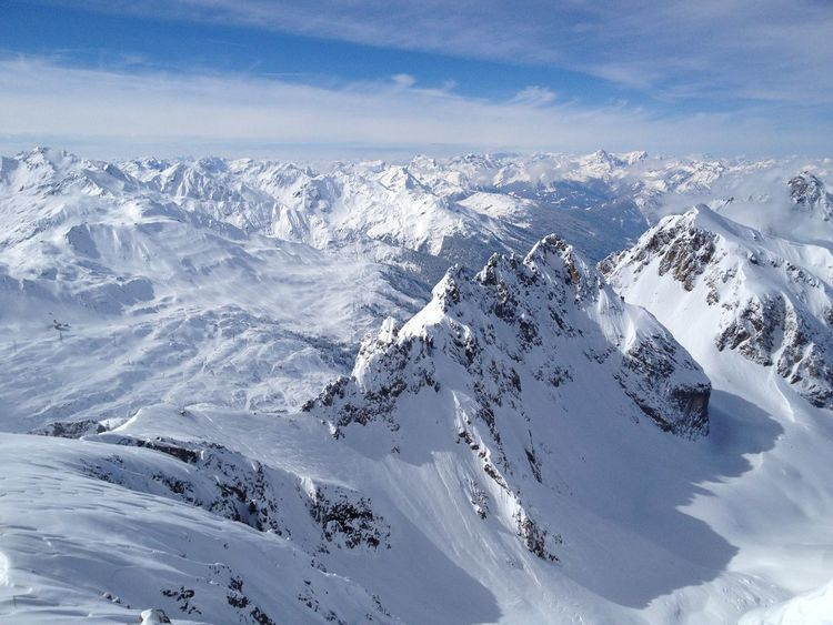 Sankt Anton Am Arlberg Beauty In Nature Cold Temperature Day Landscape Mountain Mountain Range Nature No People Outdoors Scenics Sky Snow Snowcapped Mountain Sunlight Tranquil Scene Tranquility Weather White Color Winter An Eye For Travel Shades Of Winter