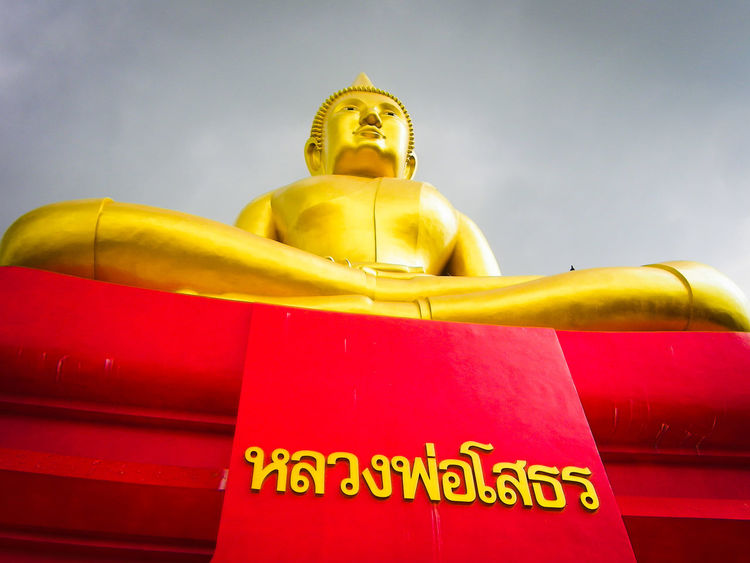 Big Buddha statue in the Thai temple Big Statue Buddha Buddha Statue Buddhism Religion Worship Believe Travel Amazing Thailand Thai Temple Religion Gold Colored Red No People Statue Indoors