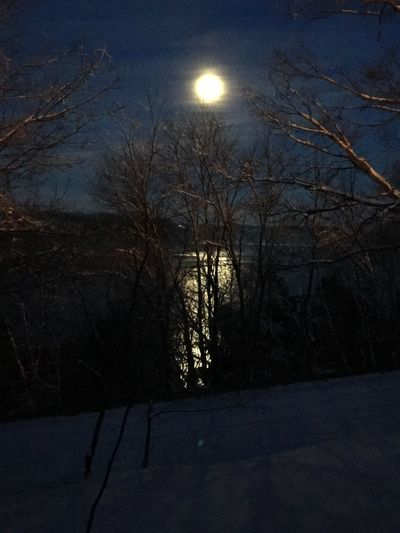Moon, lake, moonlight, night time, reflection, snow The Great Outdoors - 2017 EyeEm Awards
