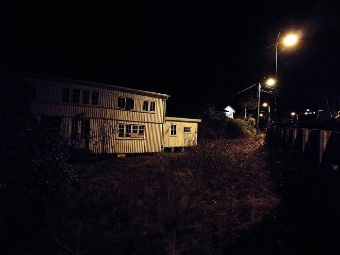 Night Dark Outdoors No People Sky Building Exterior Illuminated Tree