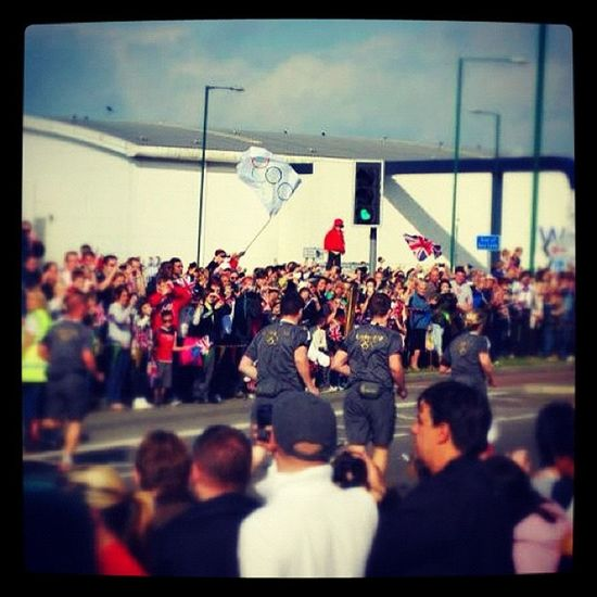 The London2012 Olympictorch relay made it to Harlow today
