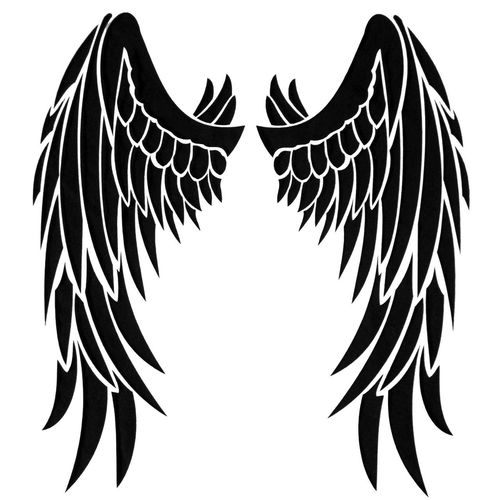 Black wings on white Bird Dark Design Black Wings On White Elégance Fly Freedom Grace Nature Peace Shape Spirituality Wing Angel Art Background Black Fantasy Feather, Feathering, Flight Winged
