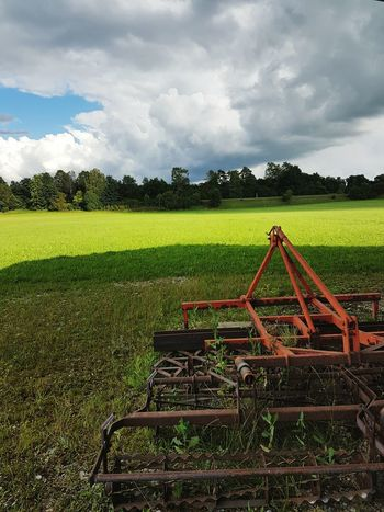 Green Cloud Hanging Out Taking Photos Check This Out Nature Outdoors Taking Photos Enjoying Life No People, First Eyem Photo Samsung Galaxy S7 First Eyeem Photo Samsungphotography No People Rainy Days Beauty In Nature Landwirtschaftsgerät Farming Equipment