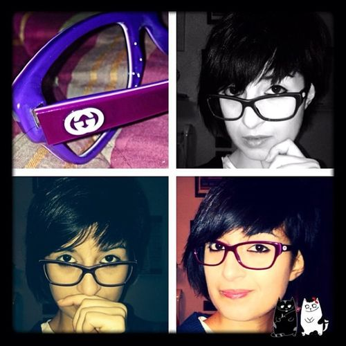 (Made with @Photo Collage)Photocollage NewGlasses ètuttaunaltracosa Civedodinuovo selfie pic glasses newworld me gucci occhiali purple likeit