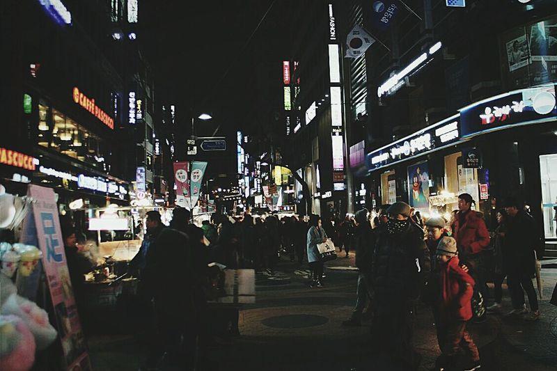 Korea Street South Korea Seoul City Hongdae Street 한국