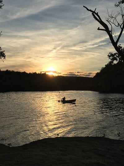 Adirondack views First Eyeem Photo Outdoors Sunset Boat Lake Great Sacandaga Camp Peace Happy Photography