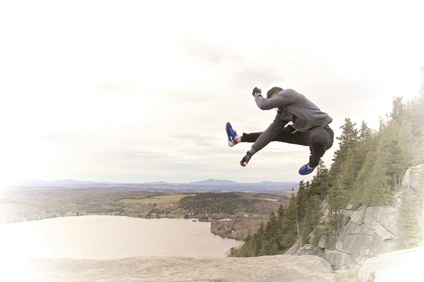 Jumpshot Nature Montains    Kikboxing Boxing Lake Lake View On A Hike Pinacle Mountain Highjump