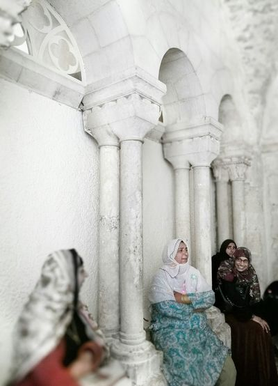 The Street Photographer - 2017 EyeEm Awards Architectural Column Religion Indoors  Marble History People Adult Middle East Women Jilbab Arabic Arab
