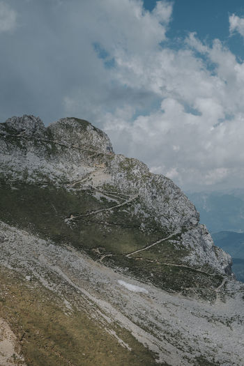 Hiking Karwendel Path Travel Travel Photography Adventure Beauty In Nature Cloud - Sky Journey Landscape Mountain Mountain Peak Mountain Range No People Outdoors Rock Scenics - Nature Sky Tranquility